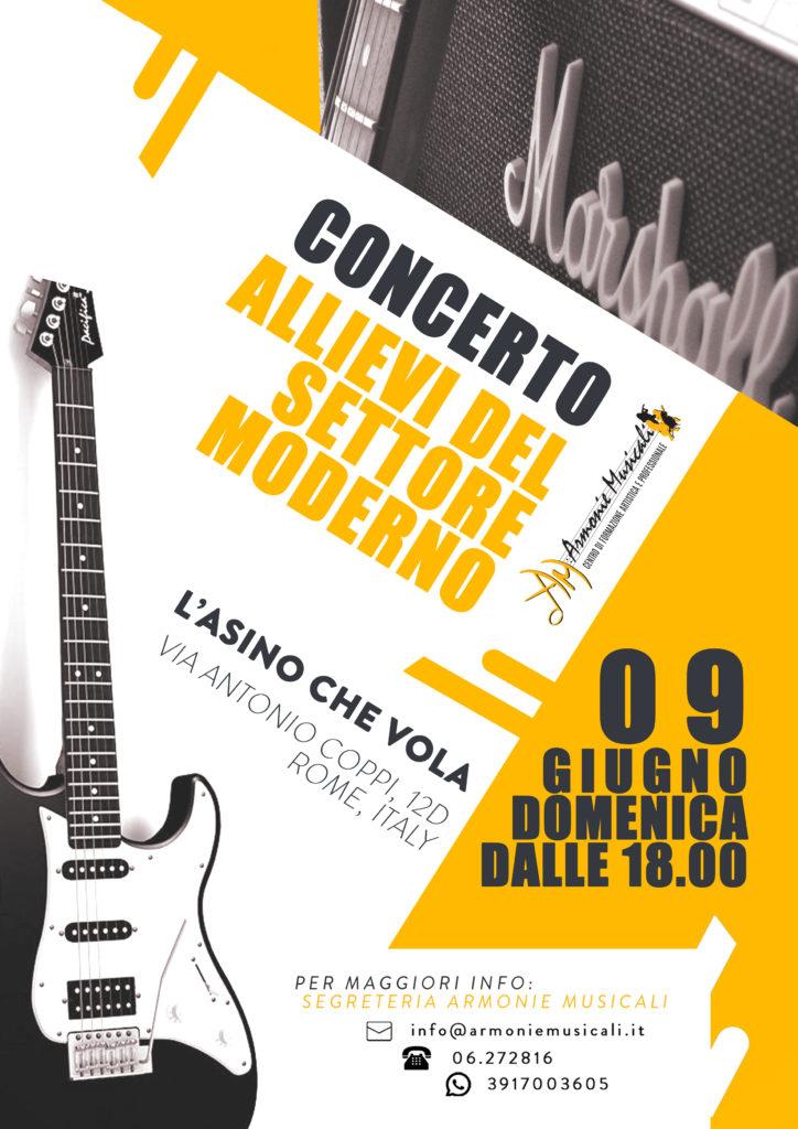 Concerto settore Moderno 9 giugno 2019