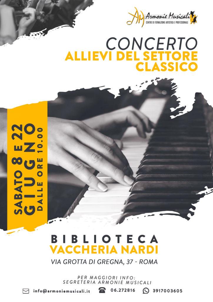 Concerto settore Classico 8 e 22 giugno 2019